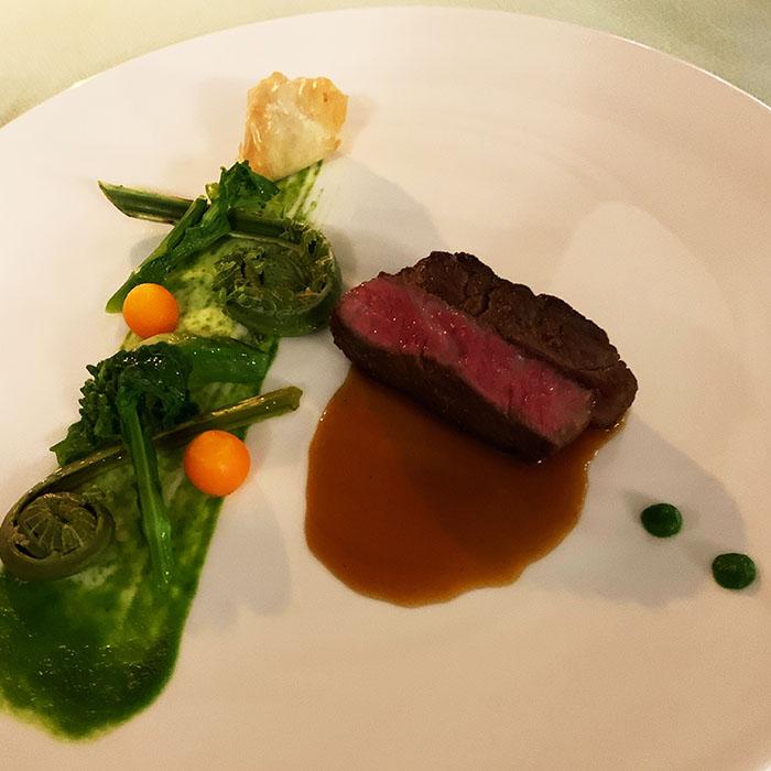 長崎和牛ロース肉のロースト